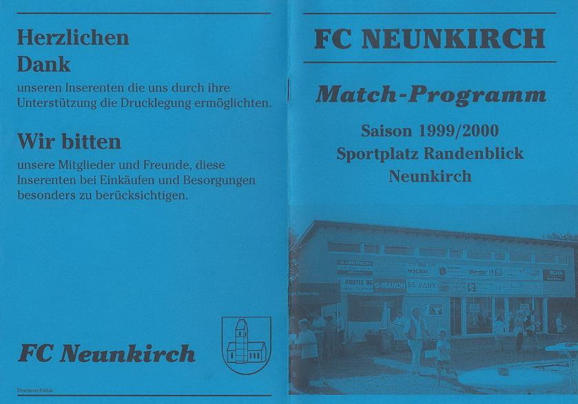 Match-Programm 1999/00