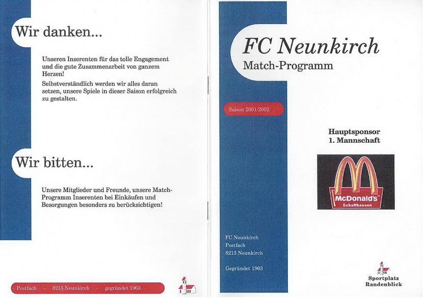 Match-Programm 2001/02