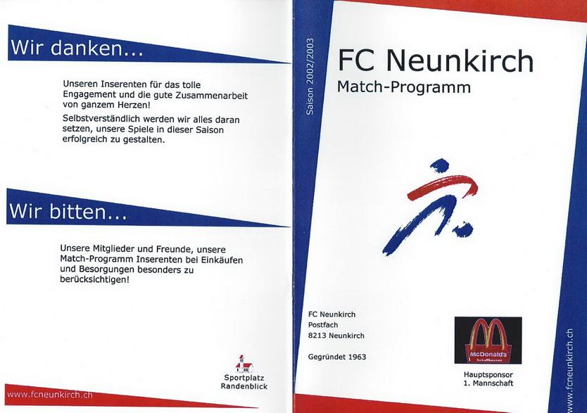 Match-Programm 2002/03