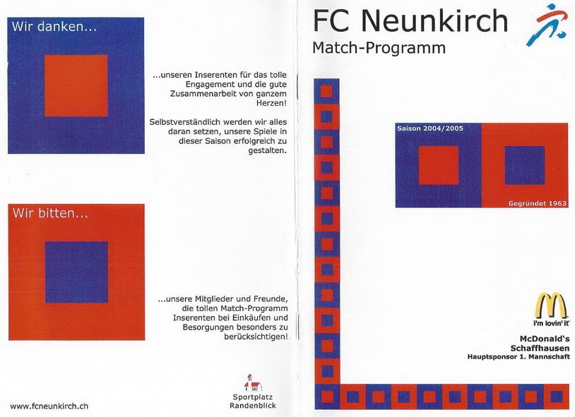 Match-Programm 2004/05