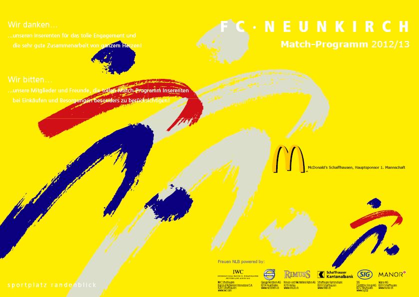 Match-Programm 2012/13
